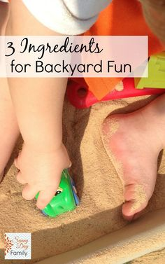 3 Ingredients for Backyard Fun! Easy & cheap essentials for outdoor play with kids.