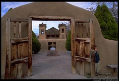 I love d this church at Chimayo, New Mexico. A friend and I traveled a long way to get there and when you walk inside you feel like you are going back in time. A small room contains a small hole in the floor where one can pick up a handful of the healing properties of the earth.