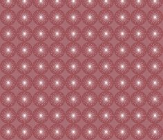 Dandelions - Pink. Design by Hollywood Royalty at Spoonflower. Mid Century - Retro - Vintage style designs Available as Wallpaper, Gift Wrap and Fabric just click on the visit button.