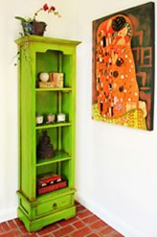 Awesome Lime Green Bookshelf From Nadeau