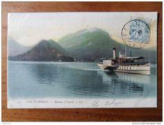 ANNECY    le lac, bateau à vapeur   1905