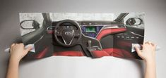 Interactive Magazine Ads : Toyota's InStyle ad