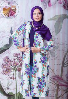floral long cardigan, Long kimono hijab by Emy fashion http://www.justtrendygirls.com/long-kimono-hijab-by-emy-fashion/