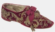 """The embroidered shoe of Pius IX who refused to set foot on Italian territory  When the Papal States were taken over, Pius moved from a palace in Rome to one in the Vatican. He refused to leave his enclave, claiming to be """"the prisoner of the Vatican"""". From his new home he excommunicated all who had been involved in the capture of Rome, forbade Catholics to vote in Italian elections and refused the subsidy offered by the Italian government. Pius resorted to vittimismo, playing the victim and…"""