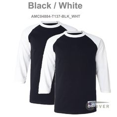 c7c91fa0 Black / White Champion Men's Raglan Baseball T-Shirt - 2 Pieces Set Raglan  Baseball