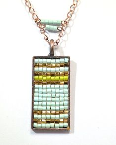 The Beadful Life @ BeadFX square stitch pendant diy