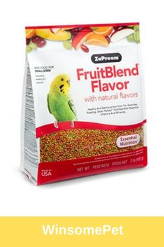 SMALL BIRDS FruitBlend® Flavor with natural flavors provides healthy and delicious nutrition for everyday feeding for Parakeets, Budgies, Parrotlets and other small birds that prefer this pellet size. Conure, Bird Food, Parakeets, Small Birds, Natural Flavors, Nutrition, Meals, Healthy, Parakeet