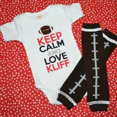 Texas Tech Baby Football Shirt and Leg Warmers