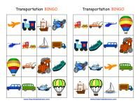 Transportation Bingo -  - Pinned by @PediaStaff – Please Visit ht.ly/63sNtfor all our pediatric therapy pins