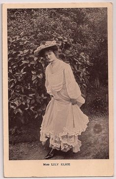 Lily Elsie/Anon Series #/Theatre/Actress/Postcard/AB066 | eBay