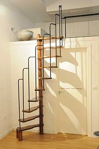 This is so beautiful ~ stairs, metalwork, simplicity