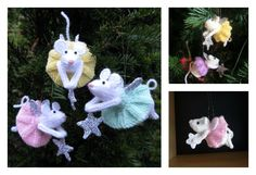 These knitted Furry Fairies look so amazing. They are knitted with free Ornament Knitting Patterns. It is so much fun to knit them.