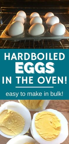 Hard boiled eggs in the oven? Yep! If you're already planning to bake something, knock out these hard boiled eggs at the same time.
