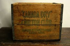 Vintage Wooden Crate / Wooden Box by HuntandFound on Etsy, $39.00