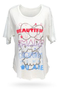 ThinkGeek :: Hello Kitty Beautiful, Smart, Perfect Relaxed-Fit Ladies' Tee