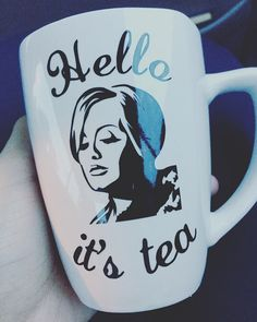 This Adele inspired Coffee mug is the perfect gift for a Tea lover! Decal is black but can me made in other colors by request