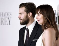 Jamie Dornan & Dakota Johnson on the grey carpet at the Fifty Shades of Grey UK premiere in London - 12 Feb 2015Click on for more UK Premiere or Press Tour info or Appearanceslovefiftyshades.com | twitter | instagram | pinterest | youtube