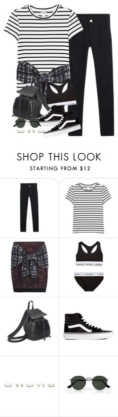 """Untitled #3450"" by peachv ❤ liked on Polyvore featuring Monki, 3.1 Phillip Lim, Calvin Klein Underwear, Vans, Isabel Marant and Ray-Ban"
