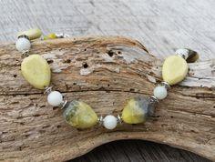 Yellow Gemstone Necklace Gemstone Jewelry by CathysCraftyDesigns