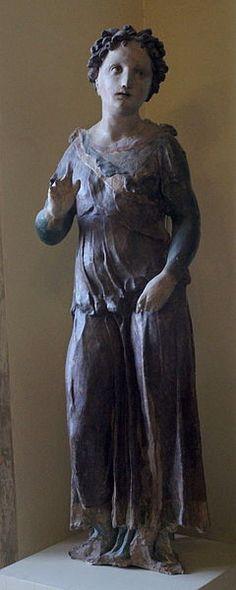 Domenico Beccafumi (Domenico di Jacopo di Pace, detto il Beccafumi) (1486-1551), Annunciazione, l'Angelo annunciante,  Museo dell'Opera del Duomo, Siena.