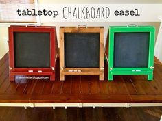 """That's My Letter: """"T"""" is for Tabletop Chalkboard Easel"""