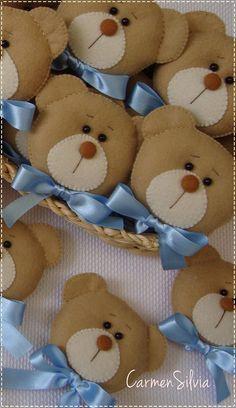 (2) Carmen Silvia - Artesã Baby Shower Deco, Baby Boy Shower, Origami Toys, Application Pattern, Bear Crafts, Cute Teddy Bears, Craft Corner, Felt Toys, Soft Sculpture