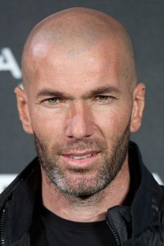 Zinedine Zidane Photos Photos - Zinedine Zidane is presented as the new face of Mango at the Camera Studio Plato on January 2015 in Madrid, Spain. - Zinedine Zidane Is the New Face of Mango Bald Men With Beards, Bald With Beard, Bald Man, Shaved Head With Beard, Henry Styles, Man Anatomy, Bald Heads, Men In Uniform, Hairy Chest