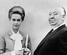 Tippi Hedren and Alfred Hitchcock