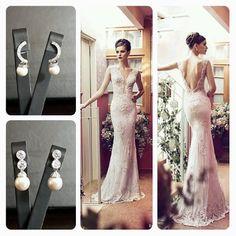 Riki Dalal Wedding Dress  BrideIstanbul Earrings