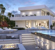 modern luxury villa montemayor alto marbella builders are want to say thanks i Modern Villa Design, Luxury Homes Dream Houses, Luxury Homes Interior, Luxury Decor, Interior Modern, Dream House Exterior, Dream Home Design, House Goals, Modern Luxury