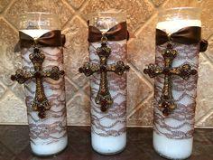 Communion Favors : Cross candle favors
