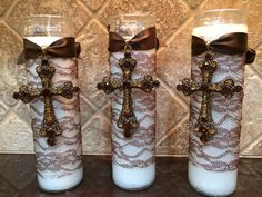 Communion Favors : Cross candle favors  on Etsy, $12.50