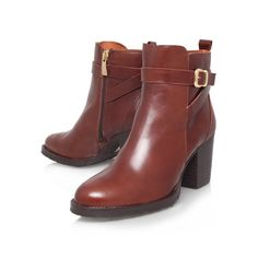 1ff2a200a04 sofie brown mid heel ankle boots from Kurt Geiger London