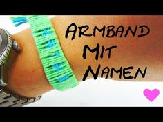 Armband mit Namen selber machen DIY Anleitung How To make name bracelets - YouTube