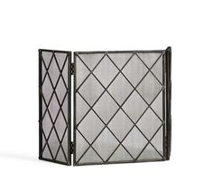 Lattice Fireplace Triple Screen | Pottery Barn