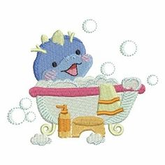 Bath Time Cuties 2, 10 - 4x4 | What's New | Machine Embroidery Designs | SWAKembroidery.com Ace Points Embroidery