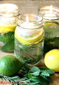 DIY: Summertime Floating Candles That Keep Bugs Away! | MY DIY ANGELS, DIY and Extreme Couponers