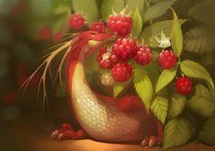 ArtStation - Raspberry dragon, Alexandra GaudiBuendia Khitrova