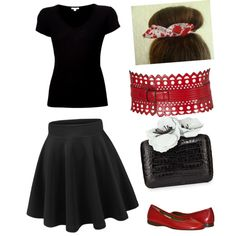 new rockabilly 2 by marciehinde on Polyvore featuring polyvore fashion style James Perse Nancy Gonzalez Alaïa