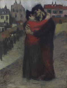 Les amants dans la rue, 1900, Pablo Picasso. (1881 - 1973)
