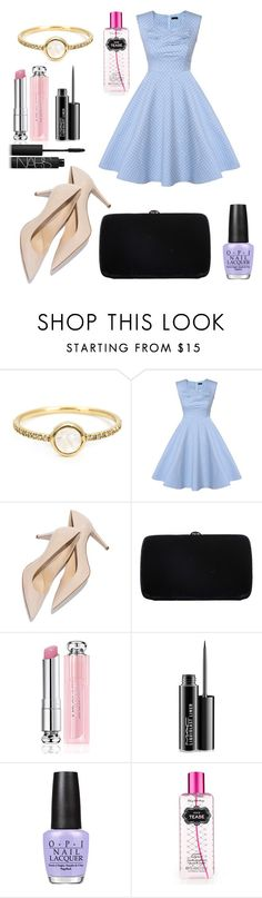 """Untitled #230"" by fadedlipstick on Polyvore featuring Irene Neuwirth, Sergio Rossi, Christian Dior, MAC Cosmetics, OPI, Victoria's Secret, NARS Cosmetics, women's clothing, women's fashion and women"