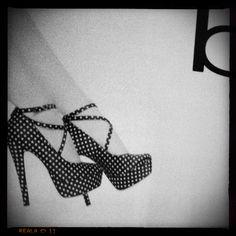Want those Bebe Polka Dot shoes