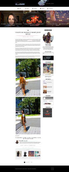 Desenvolvimento do blog em WordPress, responsivo.