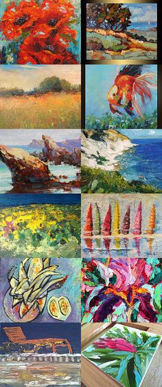 Palette knife painting by Jeanette Jobson on Etsy--Pinned with TreasuryPin.com