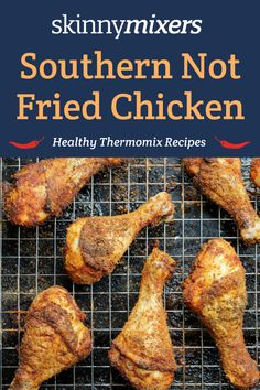 Skinnymixer's Southern Not Fried Chicken - skinnymixers Healthy Chicken, Fried Chicken, Thermal Cooking, Dairy Free, Grain Free, Gluten Free, Kentucky Fried, Skinny Recipes, Dinner Recipes