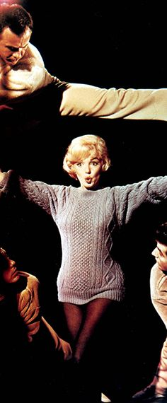 """Marilyn on the set of """"Lets Make Love"""", 1960."""