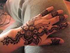 Paste on random henna design