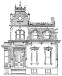 pictures of SECOND EMPIRE | Shown above is a sketch of a typical Second Empire Home with some of ...