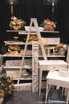 Craft Booth Ladder Display