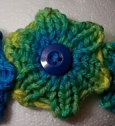 The Small Quick Knit Flower is a modified smaller version of Denice Johnson's Quick Knit Flower pattern. Works up fast and takes less yarn to make.